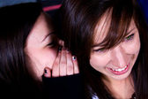 Teenagers - Whispering a Secret — Stock Photo
