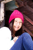 Beautiful Teenager with a Hat — Stock Photo