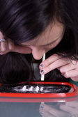 Teen Drug Addiction Problem - Cocaine — Stock Photo