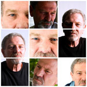 Collage of an Adult Male — Stock Photo