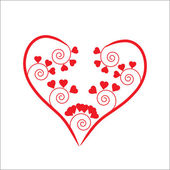 The Background heart. — Stock Vector