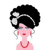 The Girl with beautiful hairstyle. — Stock Vector