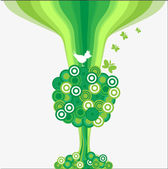 The Background abstract tree. — Stock Vector