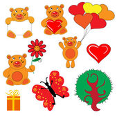 El oso símbolo set. — Vector de stock