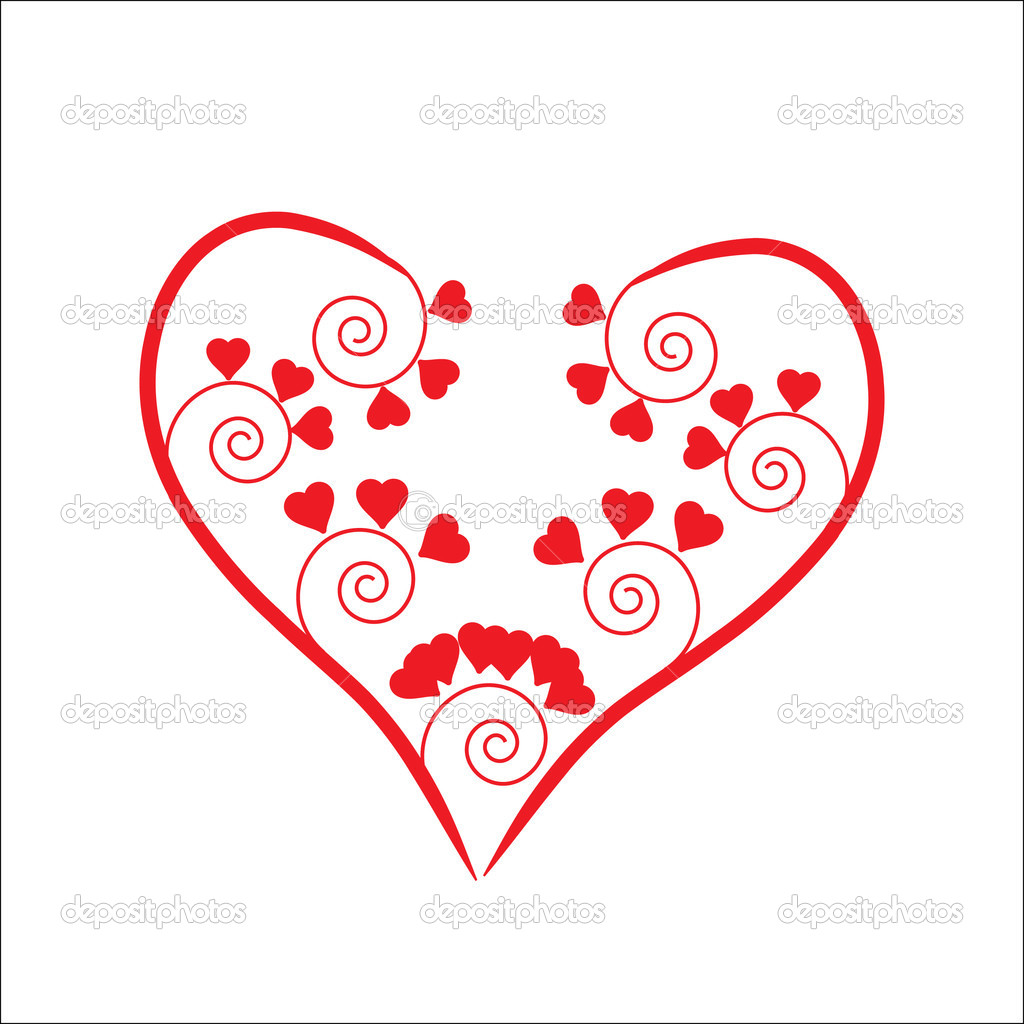 The Background heart. The Festive postcard.  Stock Vector #2599540