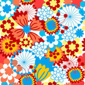The Background seamless floral. — Stock Vector