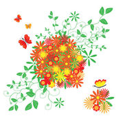 The Abstract floral background. — Stock Vector