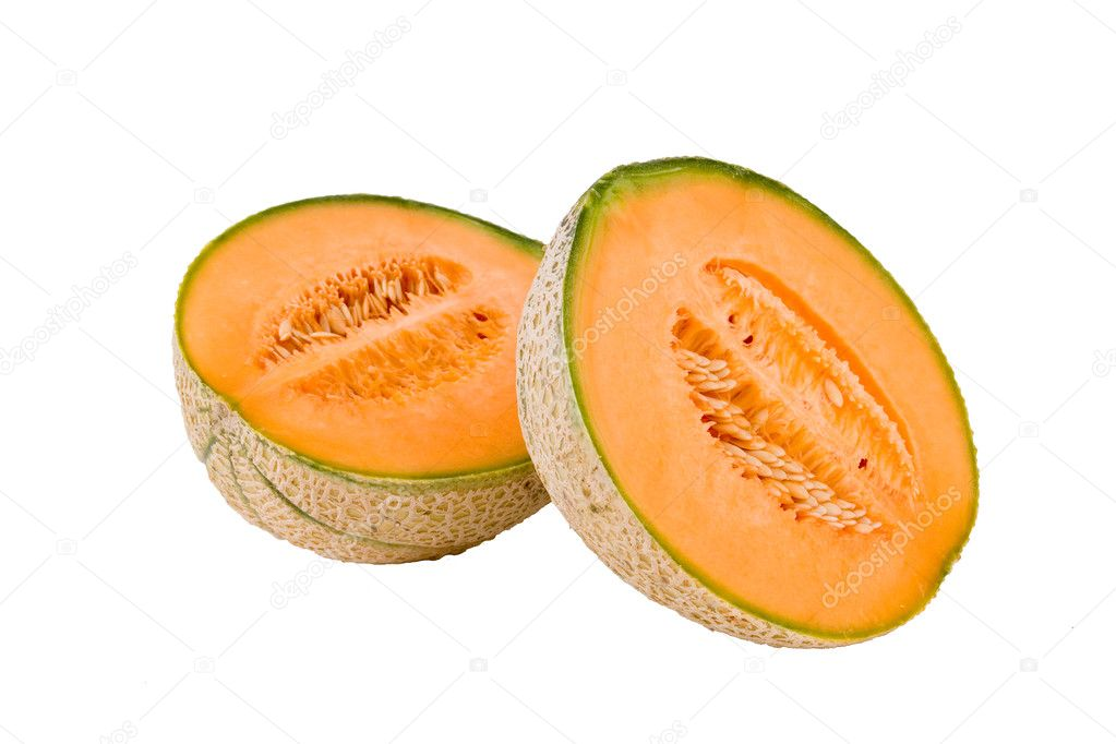 Melon on white background  Stock Photo #2552196