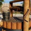 Old well with a bucket — Stock Photo #2612240