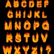 Burning Alphabet — Stock Photo #2597091