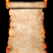 Burning Roll Of Parchment — Stock Photo #2597146