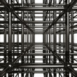 Abstract Metal Construction Stock 3D Illustratio — Stock Photo