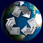 Conceptual Recycling Symbol — Stock Photo #2597438