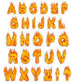 Burning Alphabet — Stock Photo
