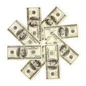 Dollar Snowflake — Stock Photo