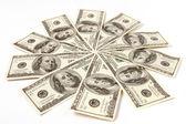 Dollar Snowflake — Stock Photo