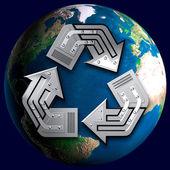 Conceptual Recycling Symbol — Stock Photo