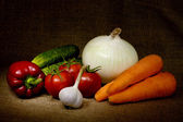 Vegetable Still Life — Stock Photo