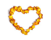 Heart Made from Rose Petals — Foto Stock