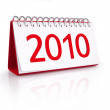 Calendar with date of New Year 2010 — Stock Photo