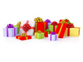 Group of colorful gift boxes — Stock Photo