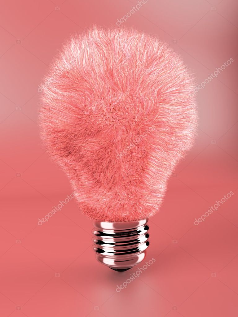 Fluffy lamp bulb in pink :) — Stock Photo #2605117