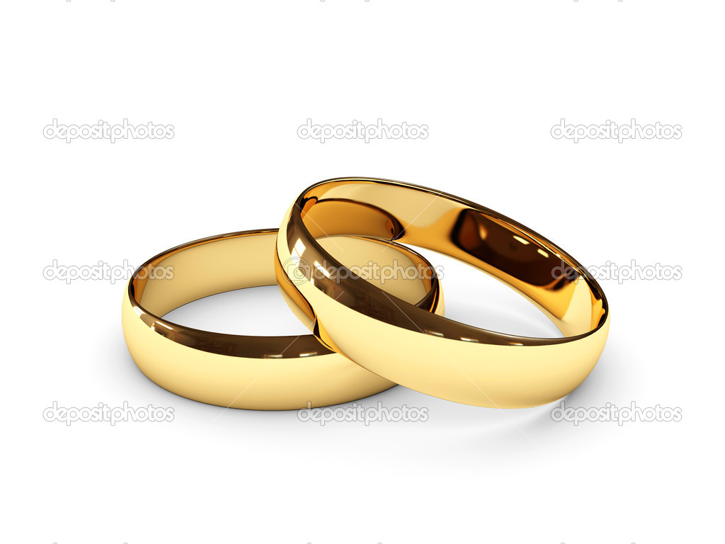 Wedding rings on white background — Stock Photo #2605974