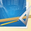 Drawing plan architectural background - Vektorgrafik
