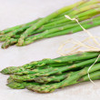 Two bunches of fresh asparagus — Stock Photo
