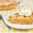 Peach Pie Ala Mode - Stock Photo