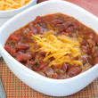 bowl of homemade chili — Stock Photo