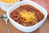 Bowl of Homemade Chili — Stock Photo
