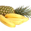 Large image of bananas and pineapple iso — Stock Photo #2605319