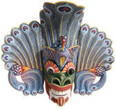 Traditional Indonesian (Balinese) mask — Stock Photo
