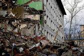 Moscow, destruction of a dwelling house — Stock Photo