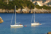Paleokastritsa, island Corfu, Ionian sea — Stock Photo