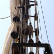 Rigging of the sailing yacht — Stock Photo