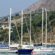 Stock Photo: Sea landscape. Sailing yachts in a bay