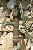 The old rusty manual pump — Stock Photo