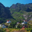 Stock Photo: Settlement on Lofoten Islands