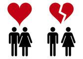 Miłość ikony — Wektor stockowy
