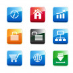 Set of e-commerce icons — Stock Photo