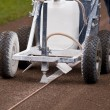 Preparing the Field with the Line Marker — Stock Photo