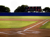 Baseball Stadium with Scoreboard — Stock Photo