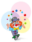 A Clown Juggler — Stock Vector