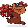 Merry Bear — Vector de stock #2643696
