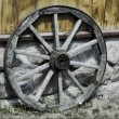 Old wooden wheels — Stock Photo