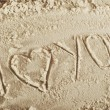 Heart and sand — Stock Photo #2644119
