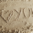 Stock Photo: Heart and sand