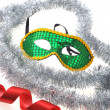 Royalty-Free Stock Photo: Mask and silvery garland